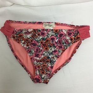 Jessica Simpson Swim - Girls Jessica Simpson Pink Floral Bikini Bottom 12